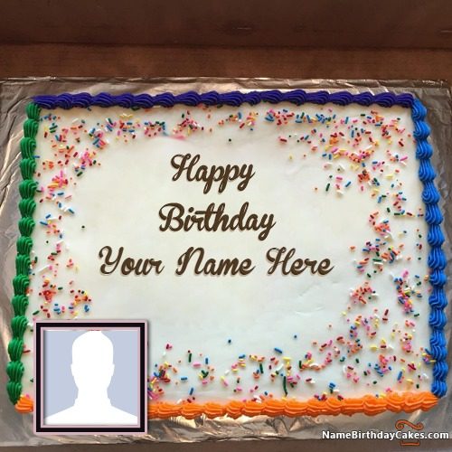 Sensational Birthday Cake For Father With Name And Photo Funny Birthday Cards Online Alyptdamsfinfo