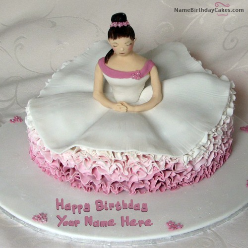 Write Name On Birthday Cake For Dancer