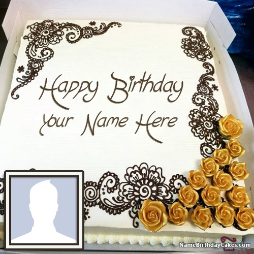 Birthday Cake For Daughter With Name And Photo