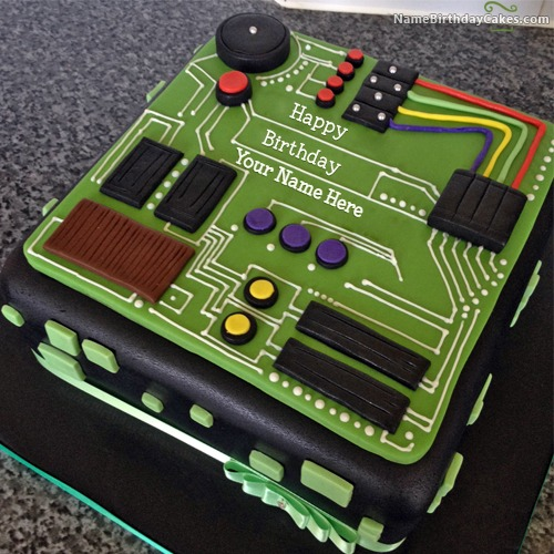 Electrical Engineer Cake Design : Happy Birthday Cake For Teacher With Name