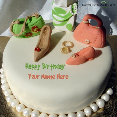 Write Name On Birthday Cake For Fashion Designer