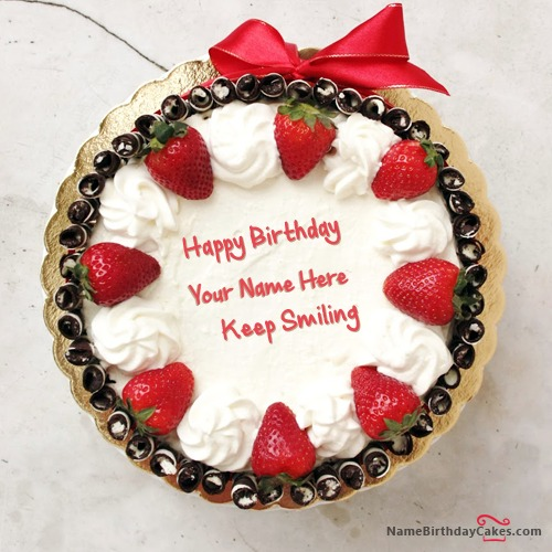 Write Name On Birthday Cake For Girlfriend or Boyfriend