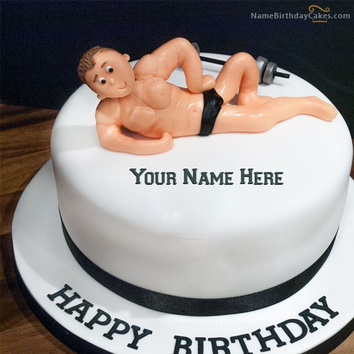 Birthday Cake For Gym Boys With Name & Photo
