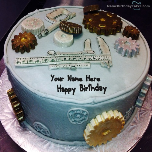 Write Name On Birthday Cake For Mechanical Engineer