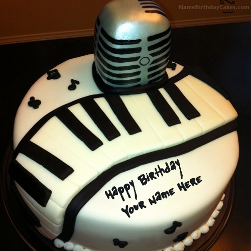 Birthday Cake For Musician With Name