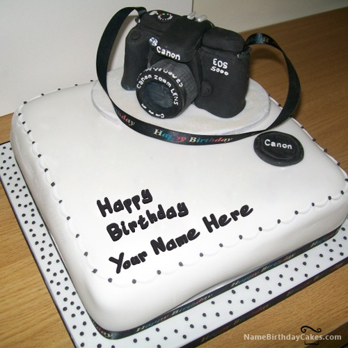 Sensational Camera Birthday Cake With Name Funny Birthday Cards Online Barepcheapnameinfo