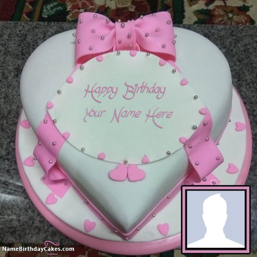 Swell Birthday Cake For Sister With Name Edit And Photo Personalised Birthday Cards Paralily Jamesorg