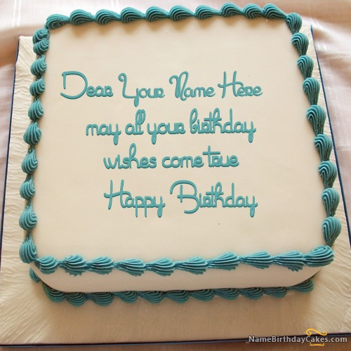 Write Name On Birthday Cake With Wish