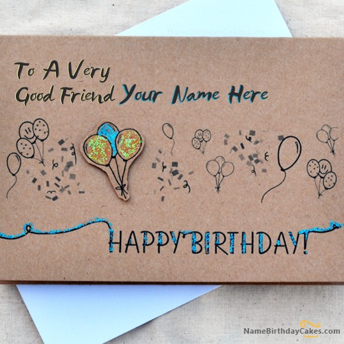 Birthday Card For Best Friends With Name