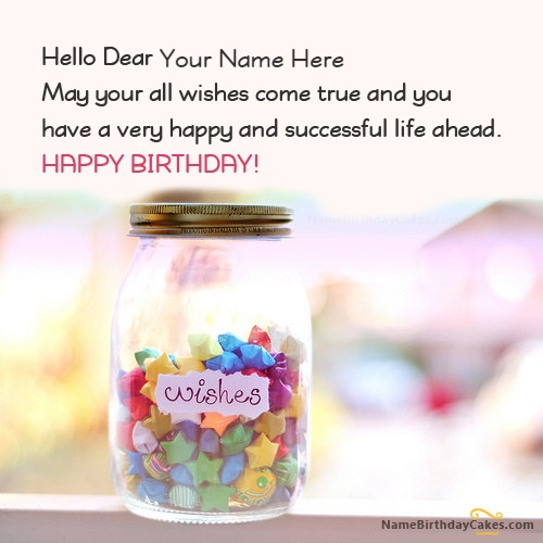 Write Name On Birthday Wishes Jar