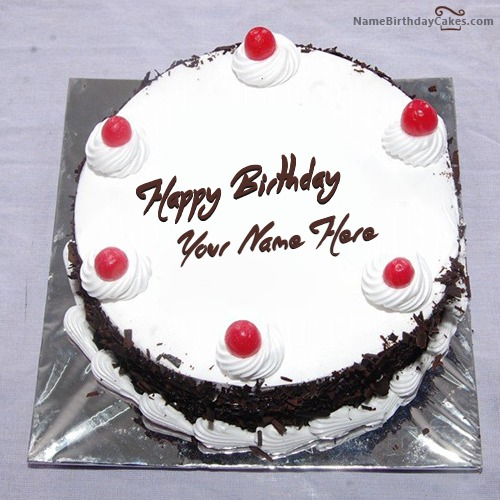 Birthday Cake Image With Name Reshma : Black Forest Birthday Cake With Name