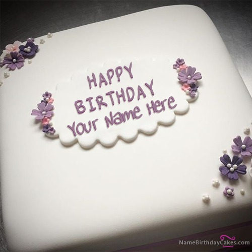 Write Name On Butter Birthday Cake For Girls