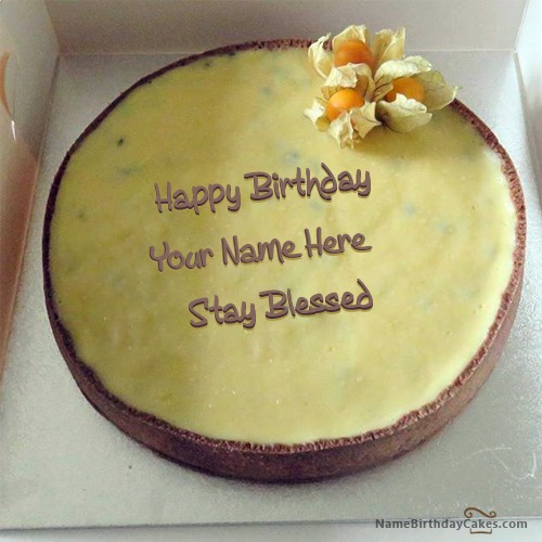Butter Icecream Happy Birthday Cake With Name & Photo
