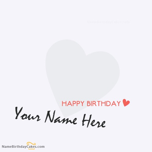Heart Birthday Card for Lover With Name & Photo