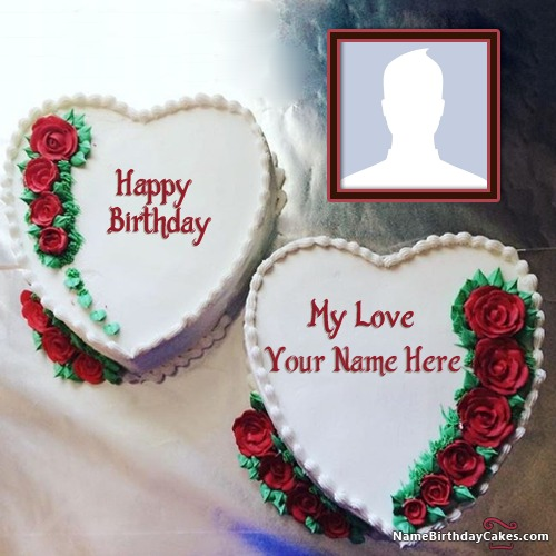 Cake birthday images for lover with name and photo publicscrutiny Image collections