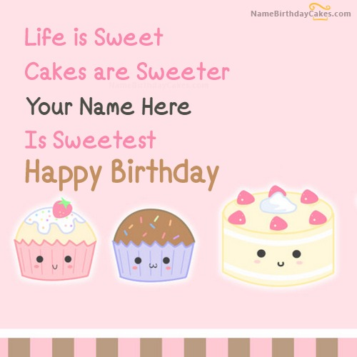Write Name On Cakes Birthday Wish