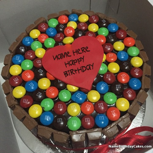 Write Name On Candies Kit Kat Cake For Boys Happy Birthday
