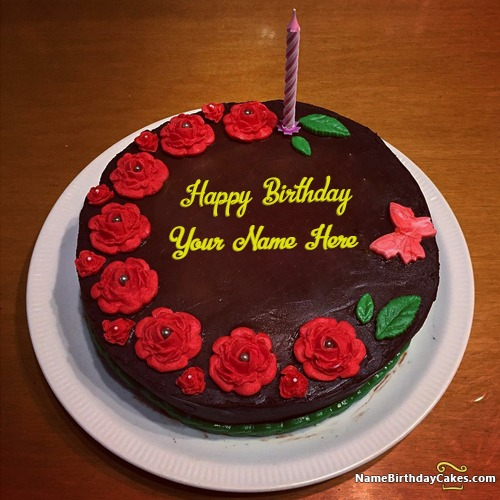 Write Name On Candle Cake Birthday Wishes For Sister