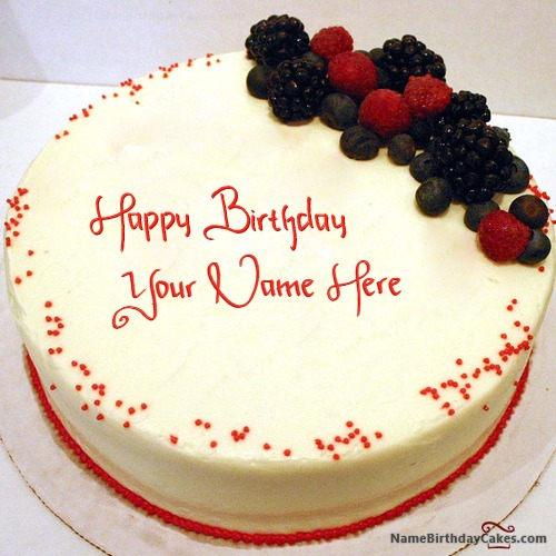 Cherry Red Velvet Cake With Name