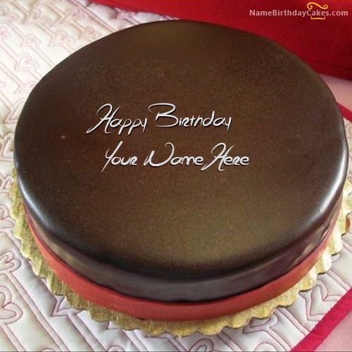 Write Name On Chocolate Birthday Cake For Brother