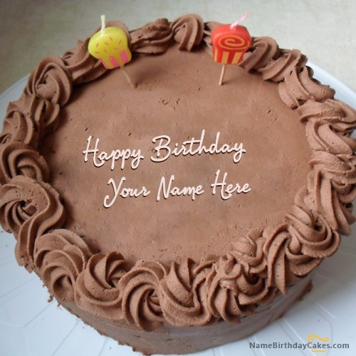 Write Name On Chocolate Birthday Cake for Friend