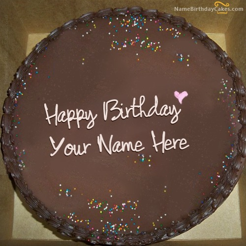 Birthday Cake Images With Name Akshay : Chocolate Birthday Cake for Friends With Name