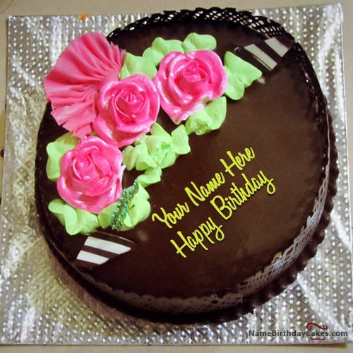 Cake Images With Name Vinod : Chocolate Birthday Cakes With Name
