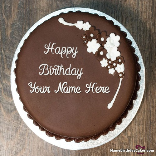 Sensational Chocolate Birthday Cake Name Edit Personalised Birthday Cards Epsylily Jamesorg