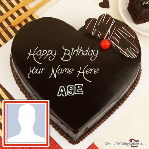 Chocolate Birthday Cake With Name And Pic