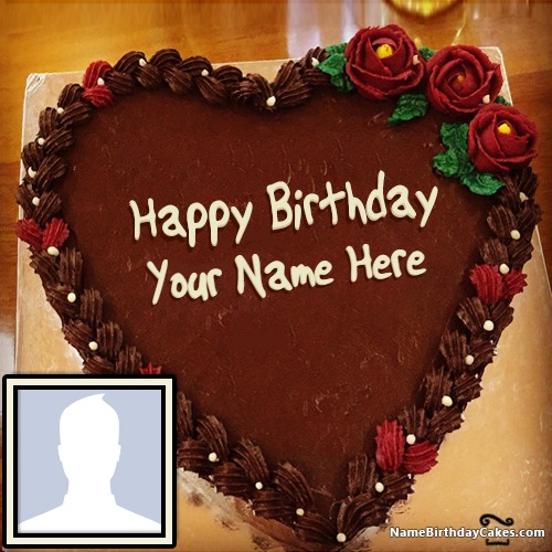 Yummy Birthday Chocolate Cakes With Name Photo