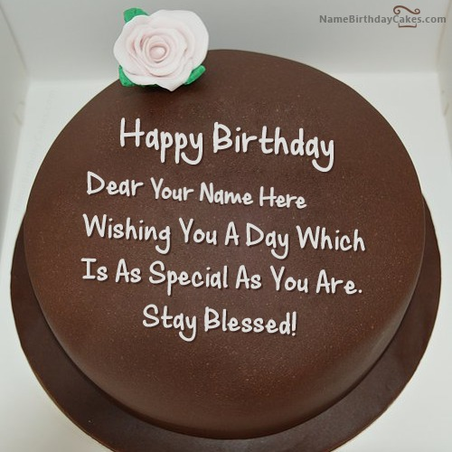 Write Name On Happy Birthday Chocolate Cake Images