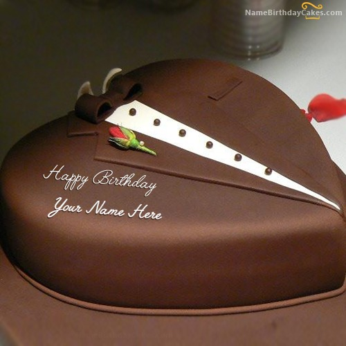 Birthday Cake Images For A Husband : Chocolate Heart Cake For Husband