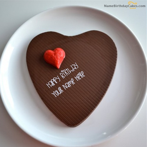 Chocolate Heart Cake For Lover