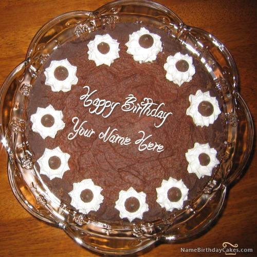 Chocolate Icecream Birthday Cake With Name