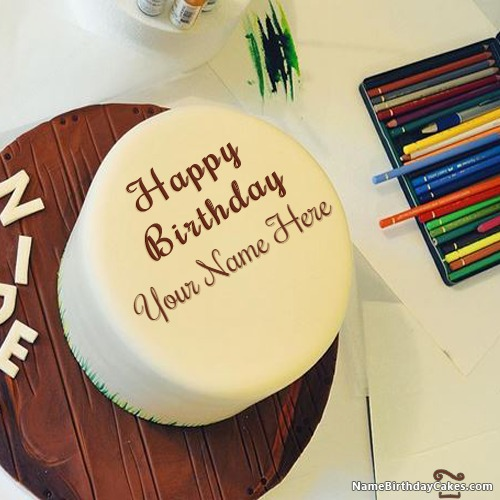 Write Name On Cool Birthday Cake For Boys