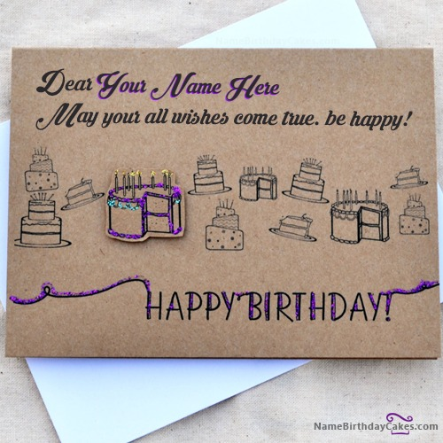 Cool Birthday Card Wish With Name