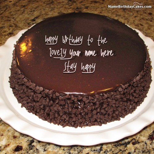 Chocolate Cake Pic With Name : Cool Chocolate Birthday Cake With Name