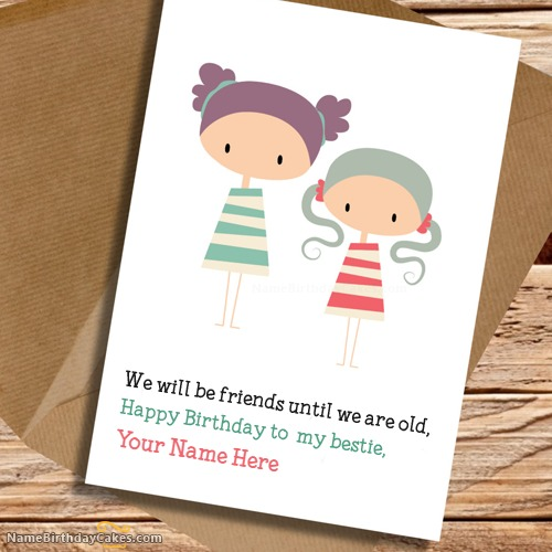 Cute Birthday Card for Sister With Name