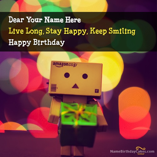 Write Name On Cute Birthday Wish For Everyone