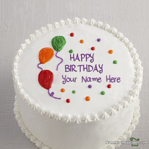 Images Of Birthday Cake With Name Ritu : Decorated Colorful Happy Birthday Cake For Boys With Name