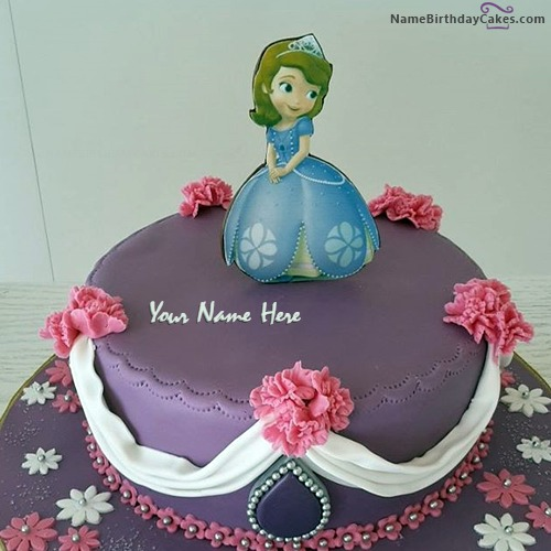 Cute Barbie Doll Birthday Cake With Name