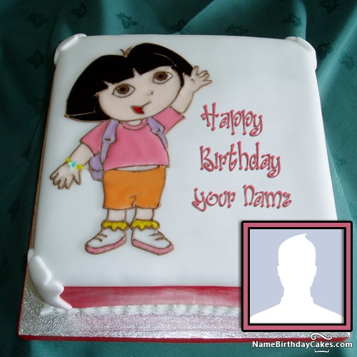 Amazing Dora Birthday Cake For Girls Special Day Funny Birthday Cards Online Alyptdamsfinfo