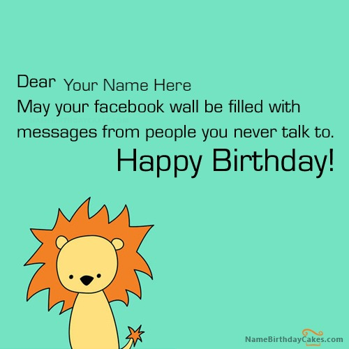 Facebook Funny Birthday Wish With Name