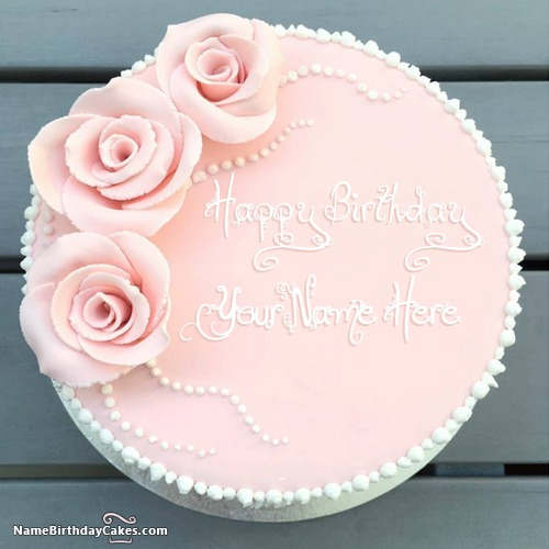Fantastic Strawberry Vanilla Cake For Friends Birthday Wish With Name