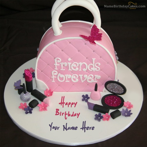 Write Name On Fashion Birthday Cake For Girls