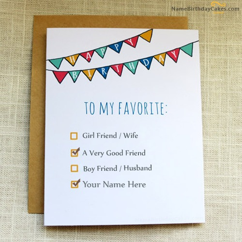 Birthday Card for Friends With Name – Birthday Cards for Friends