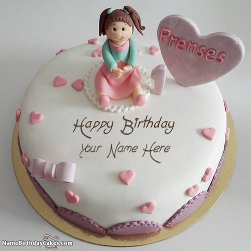 Write Name On First Birthday Cake For Sister Birthday Wish