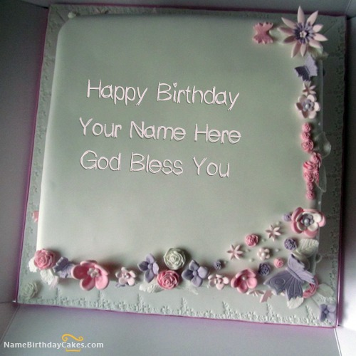 Best Floral Birthday Cake For Girls With Name & Photo