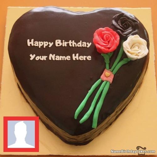 Flower Birthday Cakes For Facebook Friends With Name