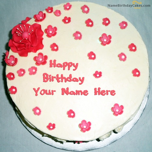 Fondant Birthday Cake For Girls With Name